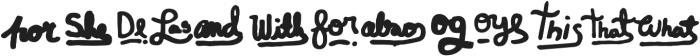 ALBOROTO Words Regular otf (400) Font LOWERCASE
