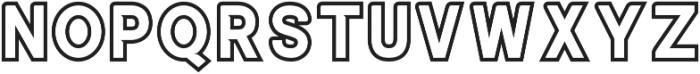 ALISEO Outline-Two otf (400) Font UPPERCASE
