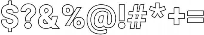 ALISEO Outline otf (400) Font OTHER CHARS