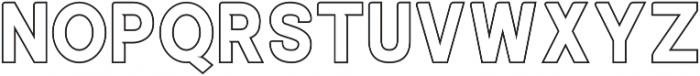 ALISEO Outline otf (400) Font UPPERCASE