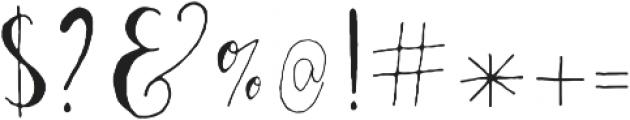 AlaNiceLeft otf (400) Font OTHER CHARS