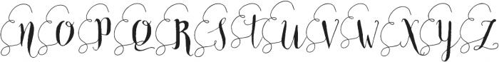AlaNiceLeft otf (400) Font UPPERCASE