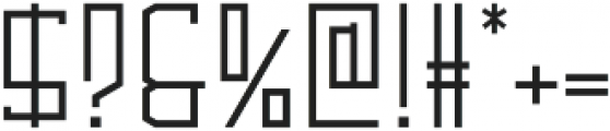 Alambre Thin otf (100) Font OTHER CHARS
