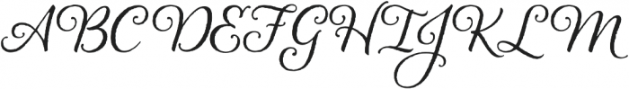 Alana otf (400) Font UPPERCASE