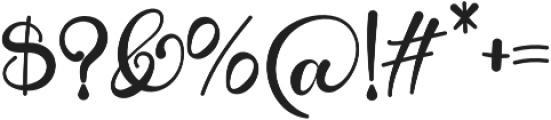 Alarate Script otf (400) Font OTHER CHARS