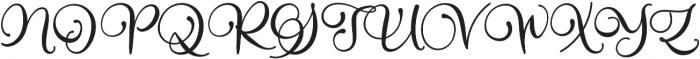 Alarate Script otf (400) Font UPPERCASE