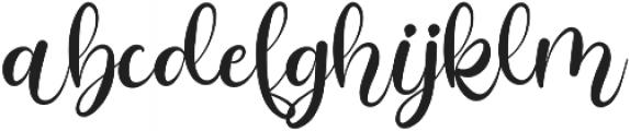 Alarate Script otf (400) Font LOWERCASE