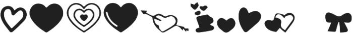 Alayna Valentines Shapes otf (400) Font UPPERCASE
