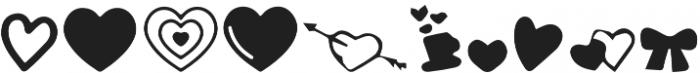 Alayna Valentines Shapes otf (400) Font LOWERCASE