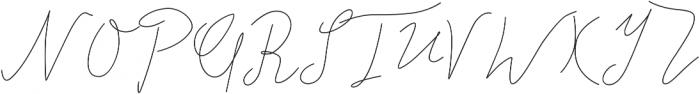 Alberts Script Land otf (400) Font UPPERCASE