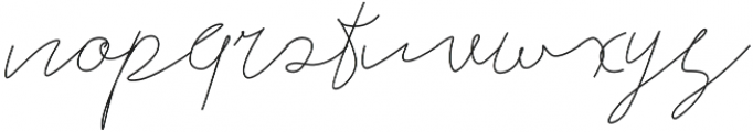 Alberts Script Land otf (400) Font LOWERCASE