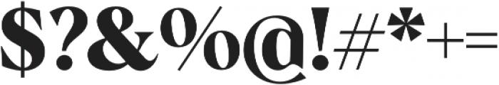 Albra Bold otf (700) Font OTHER CHARS