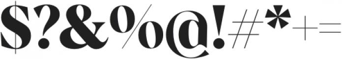 Albra Display Bold otf (700) Font OTHER CHARS