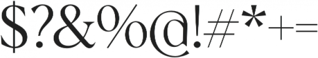 Albra Light otf (300) Font OTHER CHARS