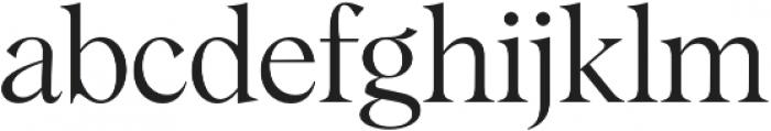 Albra Light otf (300) Font LOWERCASE