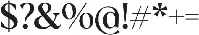 Albra Medium otf (500) Font OTHER CHARS