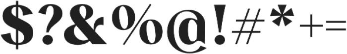 Albra Sans Bold otf (700) Font OTHER CHARS
