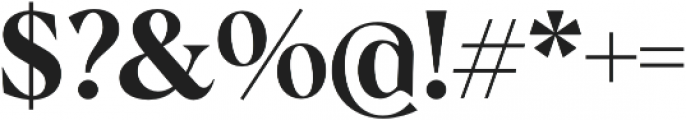 Albra Semi otf (400) Font OTHER CHARS
