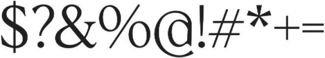 Albra Text Light otf (300) Font OTHER CHARS