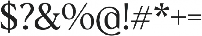 Albra Text otf (400) Font OTHER CHARS