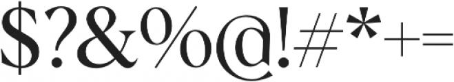Albra otf (400) Font OTHER CHARS
