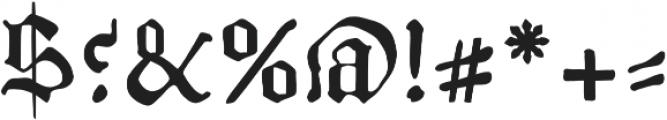 AlbrechtPfister otf (400) Font OTHER CHARS