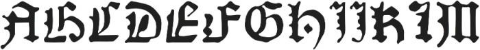 AlbrechtPfister otf (400) Font UPPERCASE