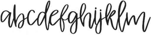 Albret Regular otf (400) Font LOWERCASE