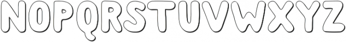 Albus Shadow ttf (400) Font UPPERCASE