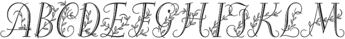 Alea Initials otf (400) Font UPPERCASE