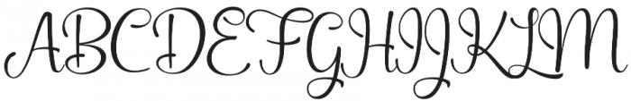 Aleandra Script otf (400) Font UPPERCASE