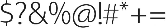 Aleante Sans ExtraLight otf (200) Font OTHER CHARS