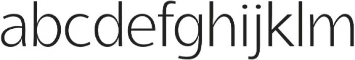 Aleante Sans ExtraLight otf (200) Font LOWERCASE