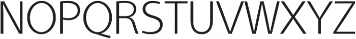 Aleante Sans ExtraLight ttf (200) Font UPPERCASE