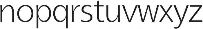 Aleante Sans ExtraLight ttf (200) Font LOWERCASE