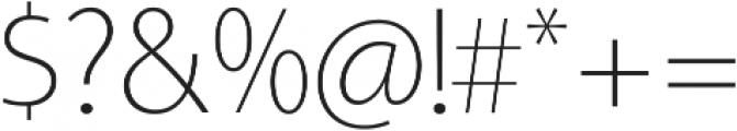 Aleante Sans Thin ttf (100) Font OTHER CHARS