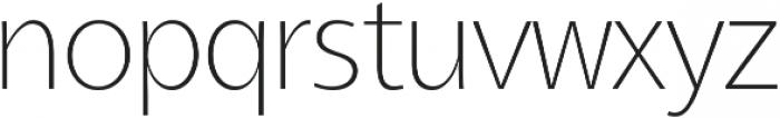 Aleante Sans Thin ttf (100) Font LOWERCASE