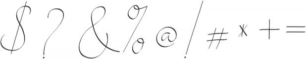 Alesana otf (400) Font OTHER CHARS