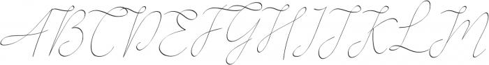 Alesana otf (400) Font UPPERCASE