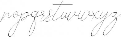 Alesana otf (400) Font LOWERCASE