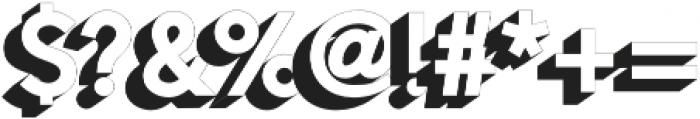Alesand Extrude ExtraBold otf (700) Font OTHER CHARS