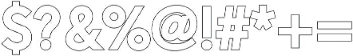 Alesand Outline  Extra Bold otf (700) Font OTHER CHARS