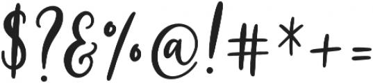 Alesandra otf (400) Font OTHER CHARS