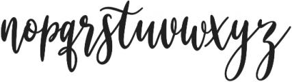 Alesandra otf (400) Font LOWERCASE