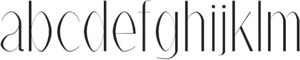 Alex Light otf (300) Font LOWERCASE