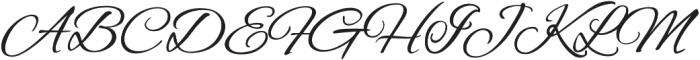 AlexBrush otf (400) Font UPPERCASE