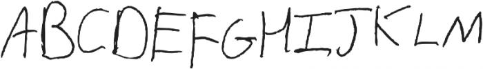Alexander Regular otf (400) Font UPPERCASE