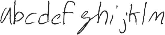 Alexander Regular otf (400) Font LOWERCASE