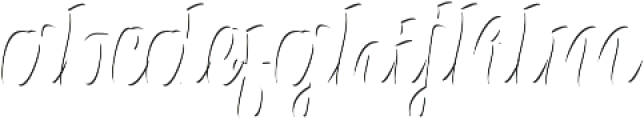 Alexandria Script Highlight Medium otf (300) Font LOWERCASE