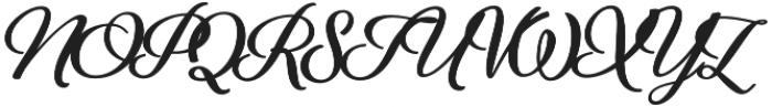 Alfons Brush Bold otf (700) Font UPPERCASE